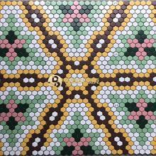 湖北仙桃 服装点设计玻璃马赛克瓷砖拼花 水晶马赛克内墙砖