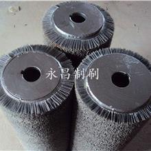 采购磨料丝刷辊 永昌制刷 抛光刷辊 金属抛光磨料刷辊  氧化铝磨料刷辊 来图定做