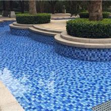 地中海陶瓷砖 游泳池马赛克 水池瓷砖 户外浴池 蓝白色防滑砖