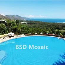 大理度假 酒店游泳池瓷砖 户外陶瓷防滑砖 48*48纯铺 蓝色马赛克