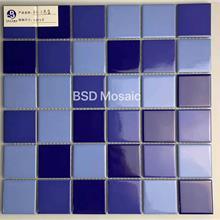 蓝色陶瓷马赛克外墙砖可定制星级酒店室外泳池马赛克陶瓷砖