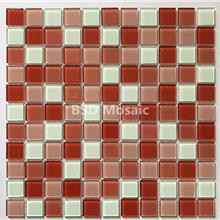 水晶玻璃马赛克美式背景墙 低吸水率耐磨砖