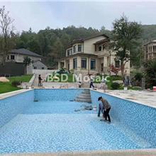 重庆 游泳池陶瓷马赛克瓷砖 户外别墅蓝色 温泉池防滑砖 景观池砖