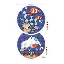 水上乐园儿童泳池拼图定制 DIY卡通图案拼花 小颗粒马赛克防滑砖效果图