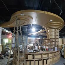 北京售楼部咖啡色铝单板厂家_办公室铝屏风装饰的生产厂家