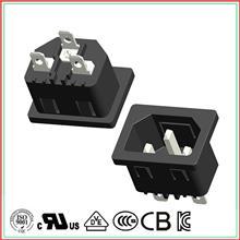 二合一品字插座带保险丝 品字插座ac 品字电源插头安规认证