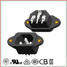 品字座 二合一品字插座带保险丝 品字电源插头安规认证