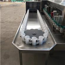 黑龙江小型酒水灌装线 半自动洗瓶机 回转式冲洗方式 无停顿节约时间 山齐灌装机械
