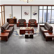 厂家销售办公沙发 昆明沙发茶几价格 商务洽谈沙发套组 办公家具