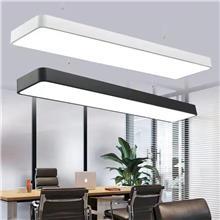 LED办公灯吊灯铝壳 会议室吊线灯铝合金外壳 LED线条灯铝壳