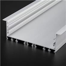 定制LED线型灯铝材外壳 铝合金LED线条灯灯具外壳 地铁隧道LED灯条铝槽