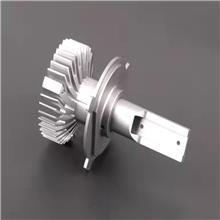 铝合金厂家定做  吉聚铝业 新能源汽车LED氢气大灯散热器铝型材  透镜车灯铝型材