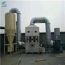 不锈钢气旋喷淋塔 卧式喷淋塔 pp废气喷淋塔 定制发货