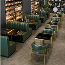 成都餐厅座椅定制 工业风复古沙发 西餐厅清吧卡座 甜品奶茶店桌椅组合