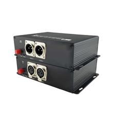 小鱼视频 2路音频光端机  卡侬头音频 平衡音频  音频光纤收发器