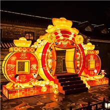 中秋节灯展制作布置厂家提供扇子造型花灯 民间工艺户外景观大小型节日花灯_生产制造商