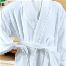 酒店浴袍 可定制加工全棉纯白色浴衣 批发男女通用汗蒸浴衣