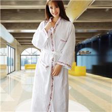 酒店浴袍男女睡衣全棉情侣吸水薄款浴袍来图定制酒店浴巾