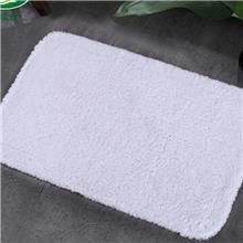 包邮五星级酒店浴室白色长毛地巾吸水防滑白色浴室垫宾馆脚垫门垫