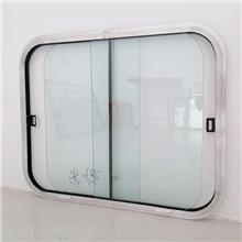 泰讷销售 汽车铝合金侧开推拉窗 钢化玻璃船用窗 规格尺寸可定做