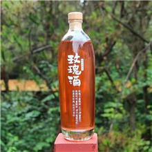 木塞口玻璃瓶 330ML果酒瓶 且听风吟瓶型 红酒瓶