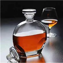 晶白玻璃瓶厂家 500ML新瓶型 厚底酒瓶 水晶玻璃盖