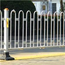 圆钢护栏定制 白色交通护栏 U型道路护栏 驾校停车围栏 品进