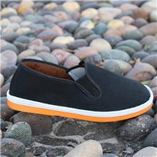 厂家直销休闲老北京布鞋防滑工作劳保鞋黄底黑布鞋保暖加绒棉鞋