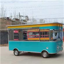 仿古手推餐车 加工定制流动美食车 商用四轮摆摊售卖车 无动力款牵引小餐车