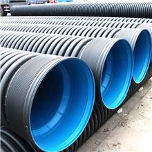 HDPE双壁波纹管 SN8聚乙烯大口径排水排污管厂家PE雨水分流管道生产