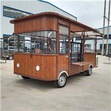 冰淇淋冷饮流动餐车 四轮小吃车 移动餐车 多功能早餐车 四轮手推餐车