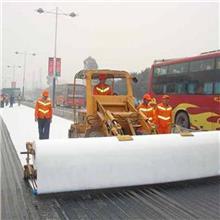 【土工布】白色国标涤纶长丝土工布 厂家定制道路养护防尘土工布