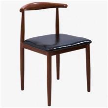 厂家批发实木北欧牛角椅咖啡椅西餐椅