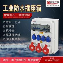 工业插座箱 户外PC组合插座箱 IP65防水防尘检修电源箱 STXF定制插座箱 司坦托普