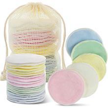 化妆棉垫 三层竹棉卸妆垫 面部清洁粉扑 可重复使用化妆垫 美妆垫