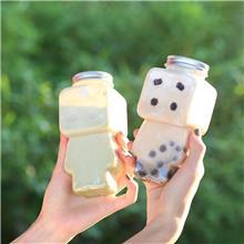 外带外卖打包杯 500ml木偶奶茶瓶 创意饮料瓶