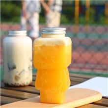 木偶奶茶瓶  PET创意饮料瓶奶茶杯 鲜榨果汁饮料塑料人偶瓶