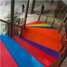 pvc楼梯踏步垫防滑垫条整体幼儿园塑胶楼梯踏步板楼梯地胶台阶贴