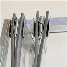 现货批发PVC磁吸折叠软门帘 磁性自吸透明挂帘 自吸折叠空调帘 量大可议价