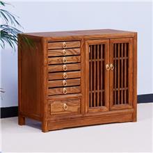 厂家批发新中式茶水柜 实木餐边柜 老榆木茶几 支持定制