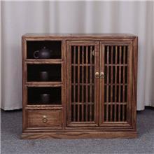 厂家直销客栈用 茶水柜 木色彩鲜艳 老榆木餐边柜