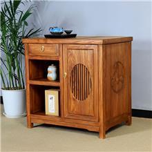 厂家直销客栈用 茶水柜 餐边柜  免漆烫蜡 老榆木餐边柜