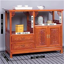 新款定制主题餐厅用 茶水柜 木质坚硬 老榆木餐边柜