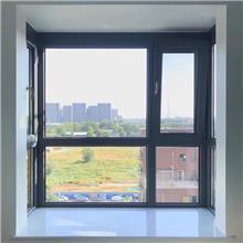 河北铝合金门窗 隔音隔热落地窗 别墅80系统断桥铝合金平开窗