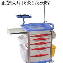 ABS护栏耐用小型推车 护士站护理车 不锈钢储槽车  山东正德 医疗