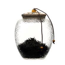 密封罐坚果罐子 透明密封储物罐 纯手工锤纹玻璃茶叶罐 价格合理