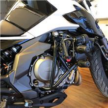 适用于春风400NK保险杠650NK竞技杠摩托车前护杠防摔杠棒改装配件-特技杠+双方形胶