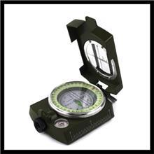 80型地质罗盘仪勘探指南针 80式指北针夜光防水可测角度带地图尺 65式多用指北针