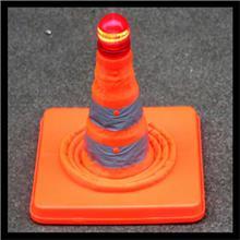 LED灯升降式伸缩路锥  交通反光锥路障锥 北京伸缩路锥