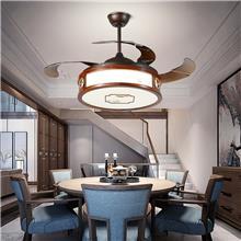 武汉风扇灯-吊扇灯-餐厅客厅简约电扇灯-家用卧室静音-新中式风扇吊灯